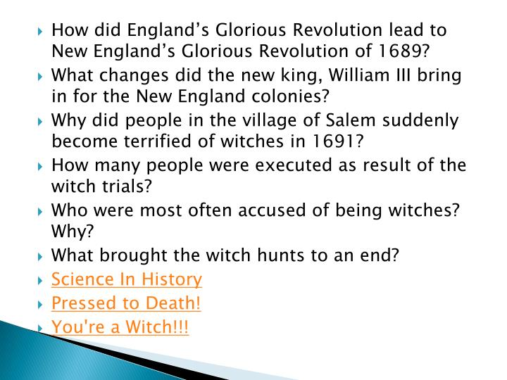 How did England's Glorious Revolution lead to New England's Glorious Revolution of 1689?