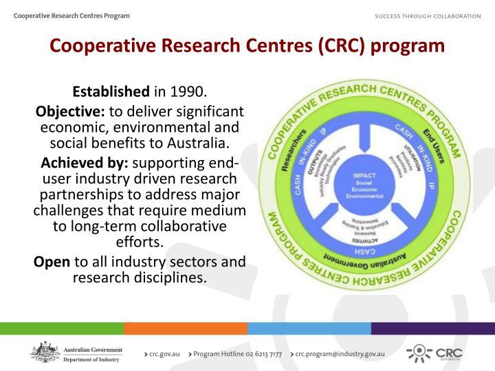 Cooperative Research Centres (CRC) program