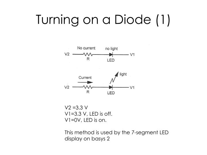 Turning on a diode 1