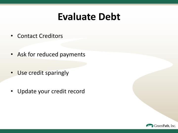 Evaluate Debt