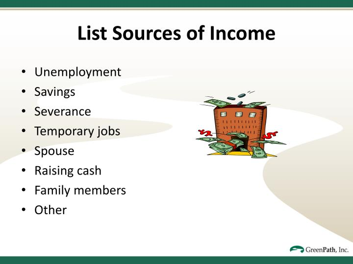 List Sources of Income