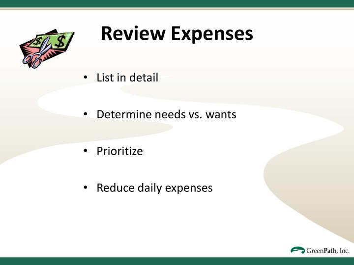 Review Expenses