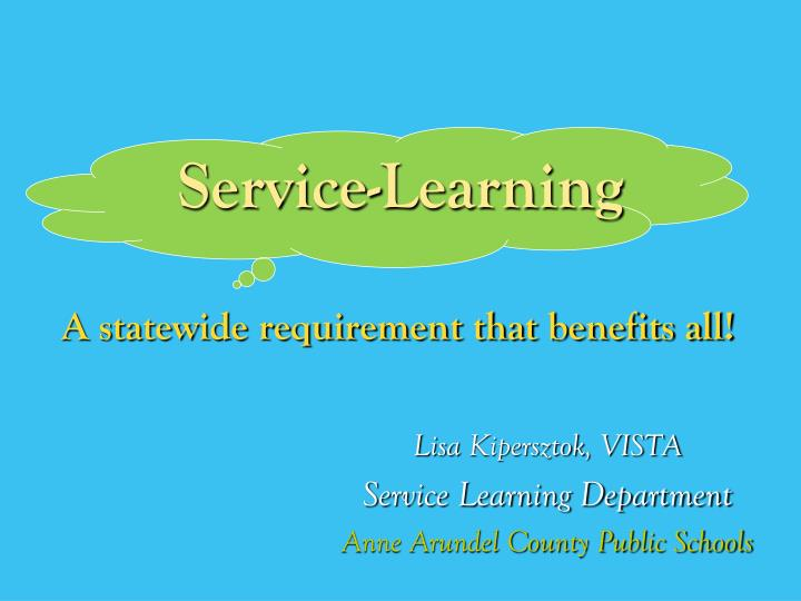 Service learning