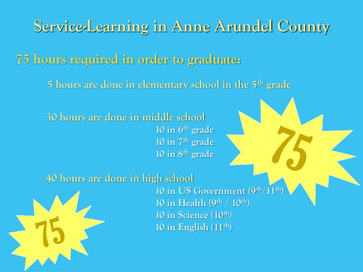 Service-Learning in Anne Arundel County