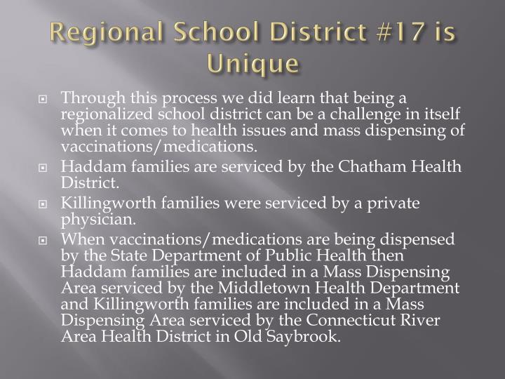 Regional School District #17 is Unique