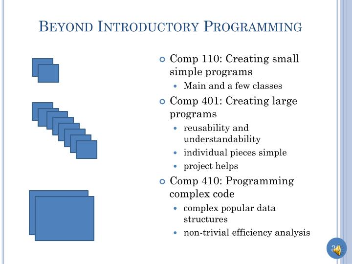 Beyond Introductory Programming