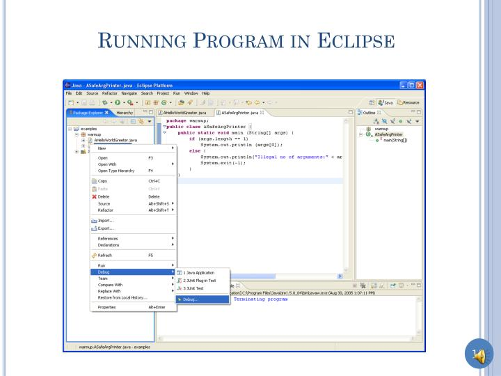 Running Program in Eclipse
