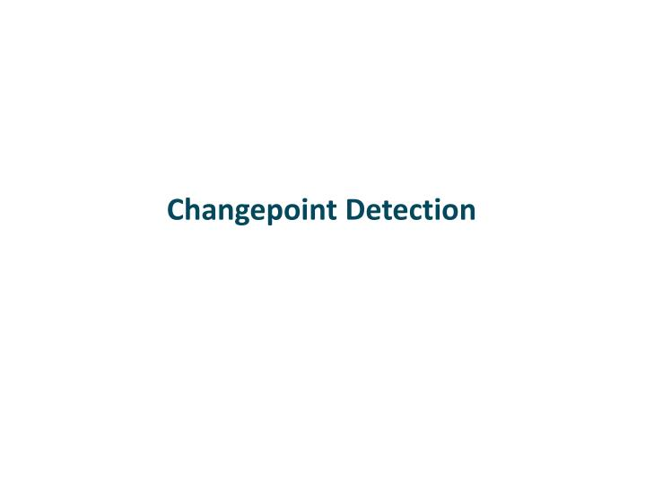 changepoint detection