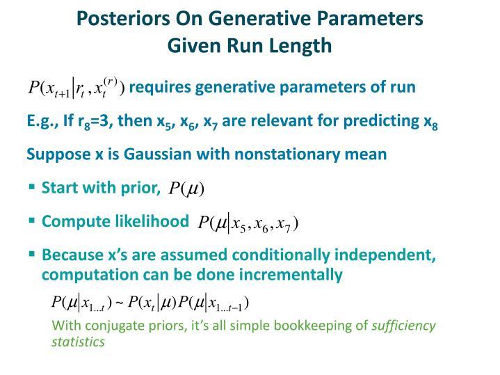 Posteriors On Generative Parameters