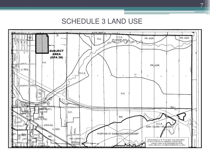 SCHEDULE 3 LAND USE