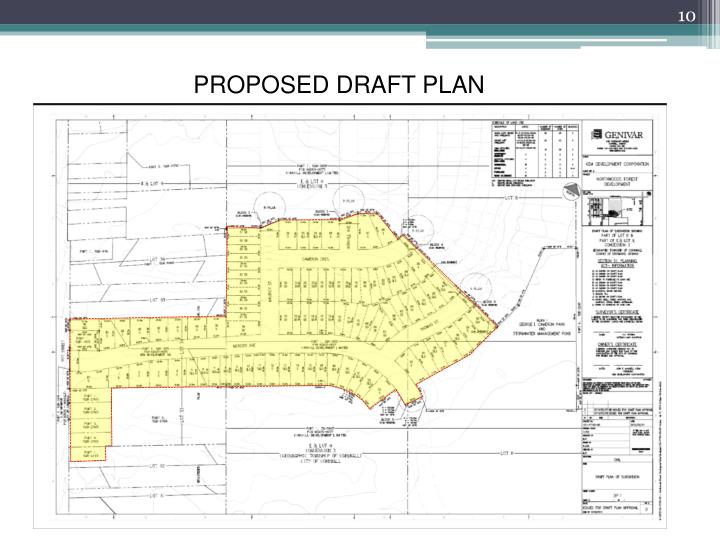 PROPOSED DRAFT PLAN