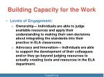 building capacity for the work1