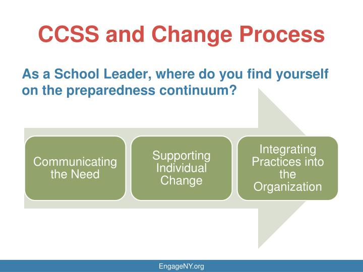 CCSS and Change Process