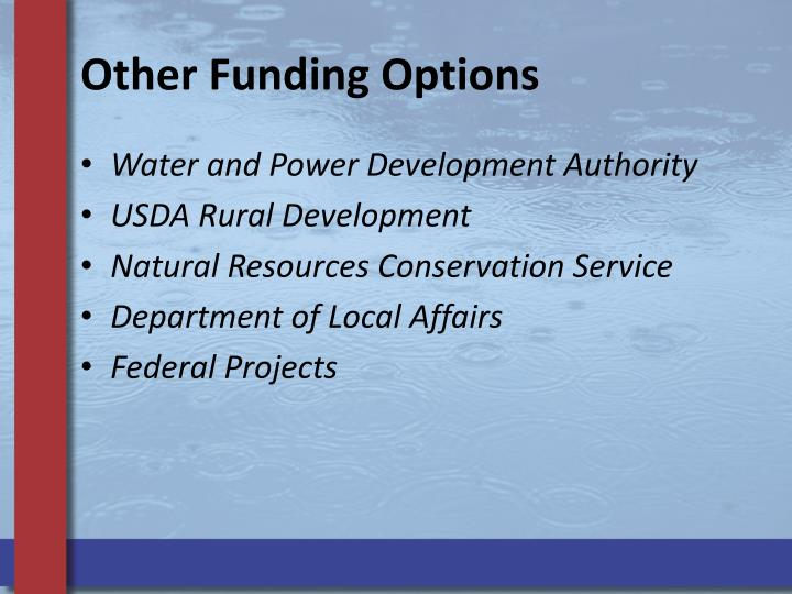 Other Funding Options