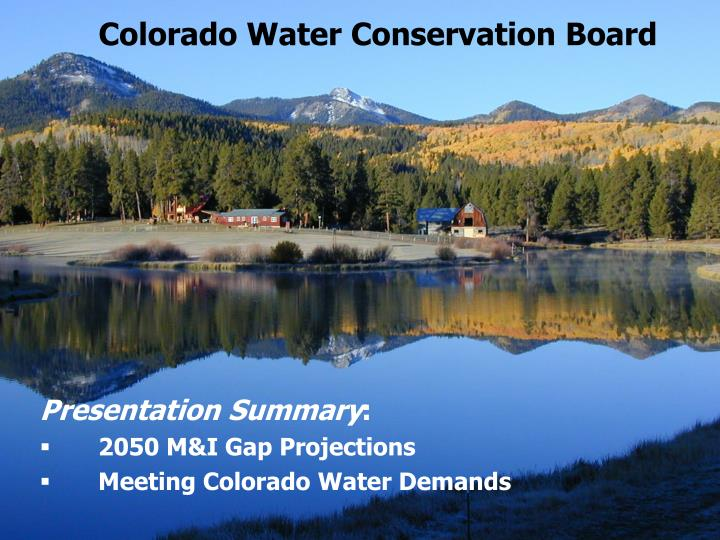 Colorado Water Conservation