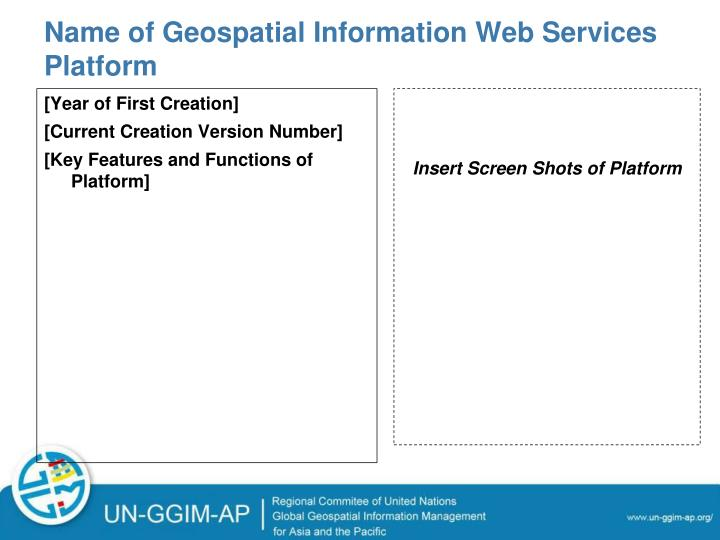 Name of Geospatial Information Web Services Platform