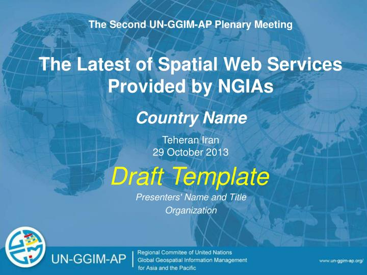 The Second UN-GGIM-AP Plenary Meeting