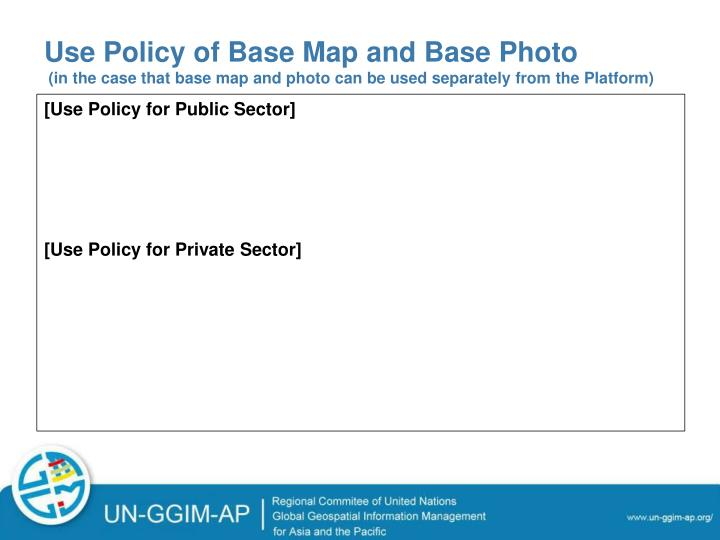 Use Policy of Base Map and Base Photo