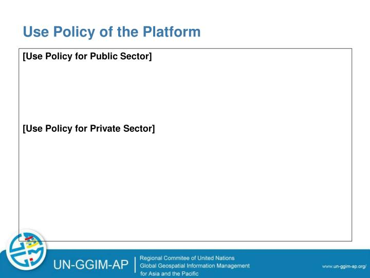 Use Policy of the Platform