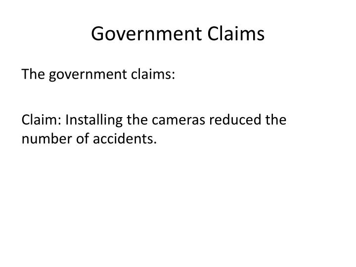 Government Claims