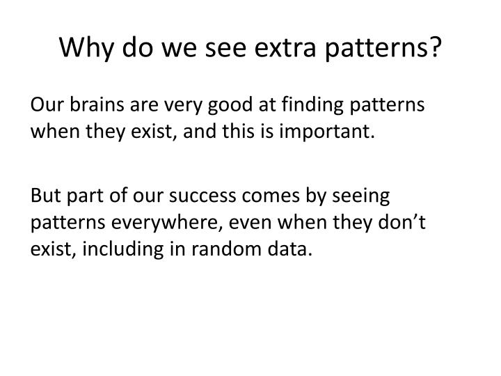 Why do we see extra patterns?