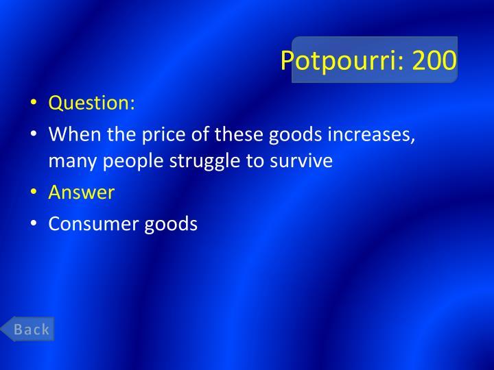 Potpourri: