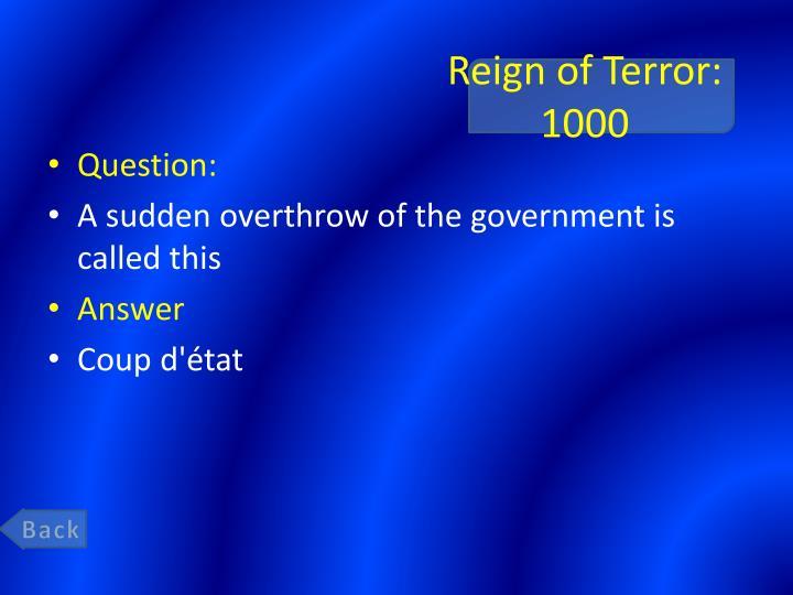 Reign of Terror: