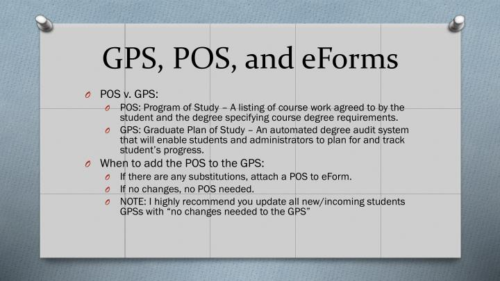 GPS, POS, and