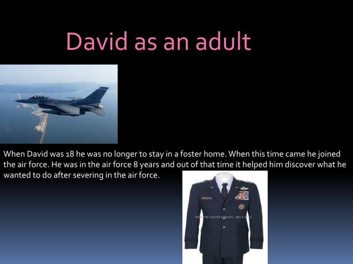 David as an adult