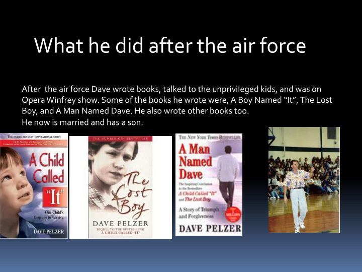 What he did after the air force