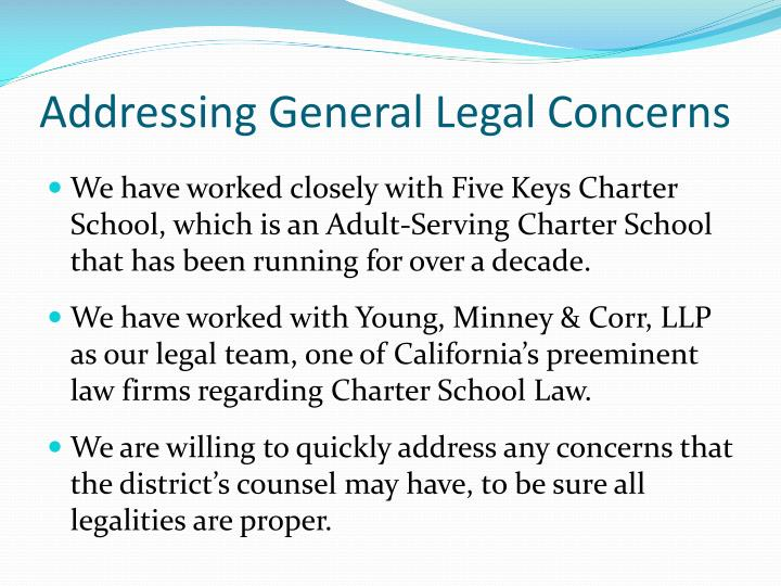 Addressing General Legal Concerns