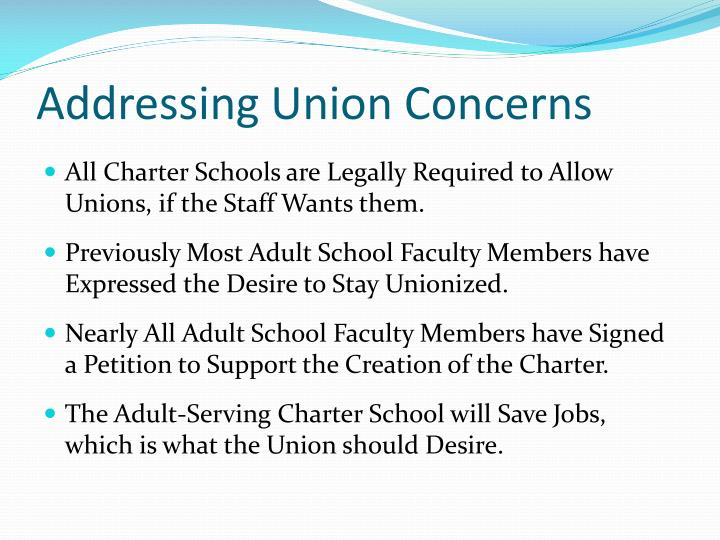 Addressing Union Concerns