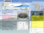 reno experiment