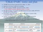 t2k j parc status and plan