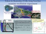 tokai to kamioka t2k long baseline neutrino oscillation experiment