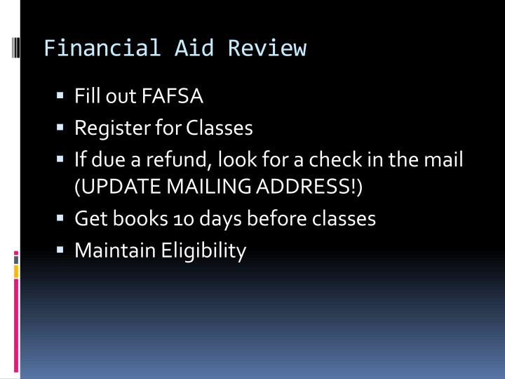 Financial Aid Review
