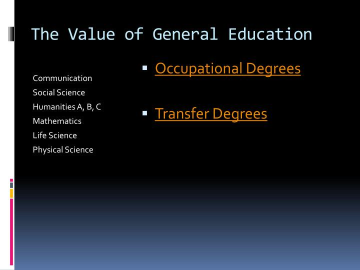 The Value of General Education