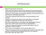 attributions