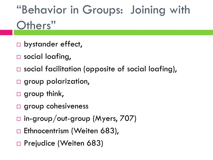 """Behavior in Groups:  Joining with Others"