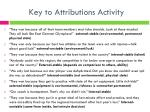 key to attributions activity
