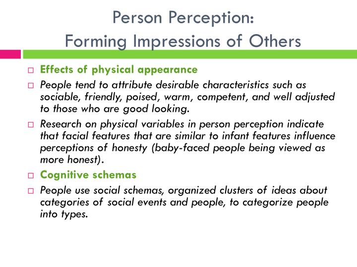 Person Perception: