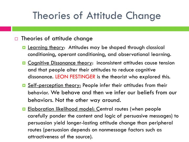 Theories of Attitude Change