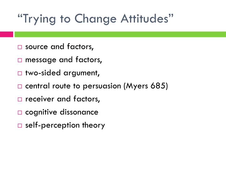 """Trying to Change Attitudes"