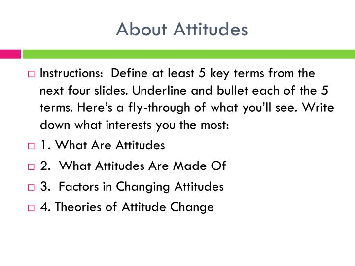 About Attitudes
