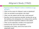 milgram s study 1965