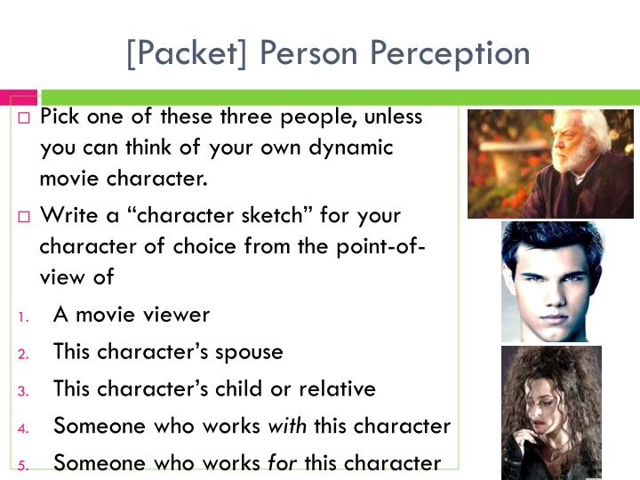 [Packet] Person Perception