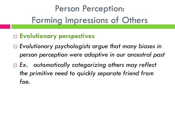 Person Perception: