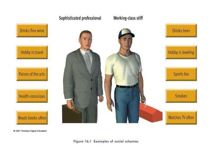 Figure 16.1  Examples of social schemas