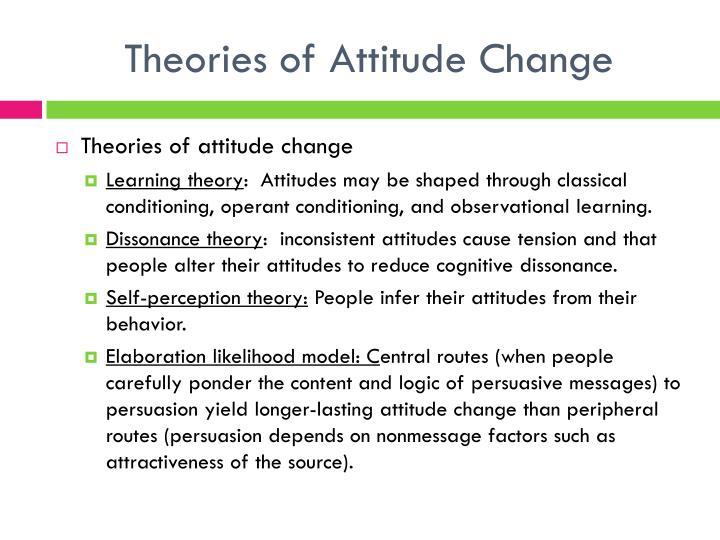 Theories of Attitude Change