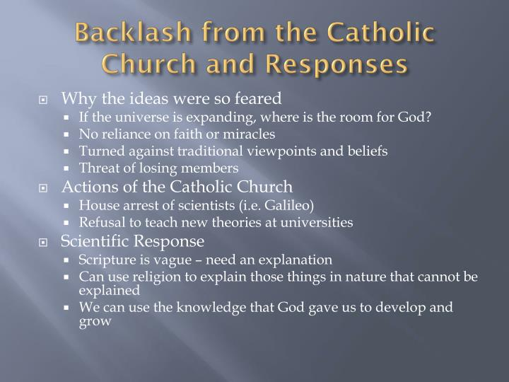 Backlash from the Catholic Church and Responses